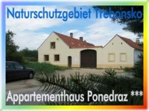 Appartementhaus Ponedraz * * * mit Pool für 21 Personen in Südböhmen