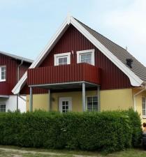 Ansicht Ferienwohnung Fewo in Prerow im Schwedenhaus mit Balkon