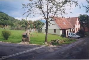 Haus Paulette am Ortsrand + eingez.Garten im Elsaß für Urlaub mit dem Hund