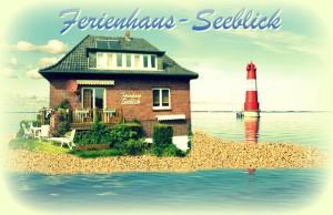 Ferienhaus Seeblick im Nordsee-Bad Dangast direkt beim Strand mit Hund