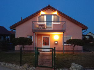 Boiensdorf Ferienhaus Seeadler mit Blick auf das Salzhaff und die Ostsee.