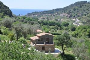 Kampanien, Cilento - Ferienhaus mit Pool und Meerblick nahe Castellabate